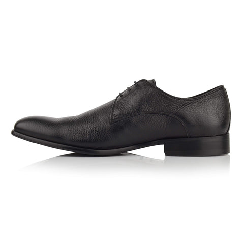 LM400 - Language Men's Exotic Black Derby Shoes