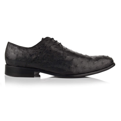LM141 - Language Men's Exotic Black Derby Shoes