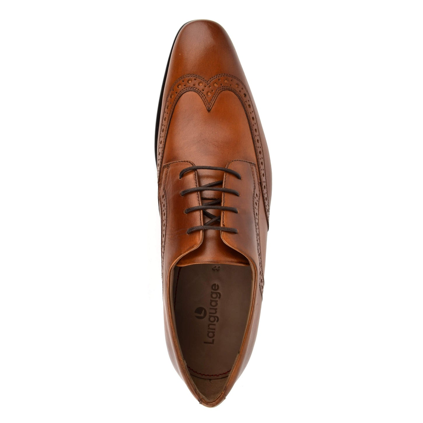 LM411 - Language Cosmo Men's Formal Tan Derby Shoes