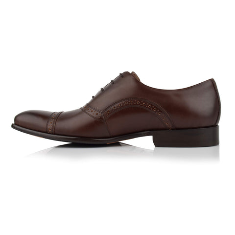 LM412 - Language Pietro Men's Formal Brown Oxford Shoes