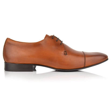 LM431 - Language Modesto Men's Formal Tan Derby Shoes