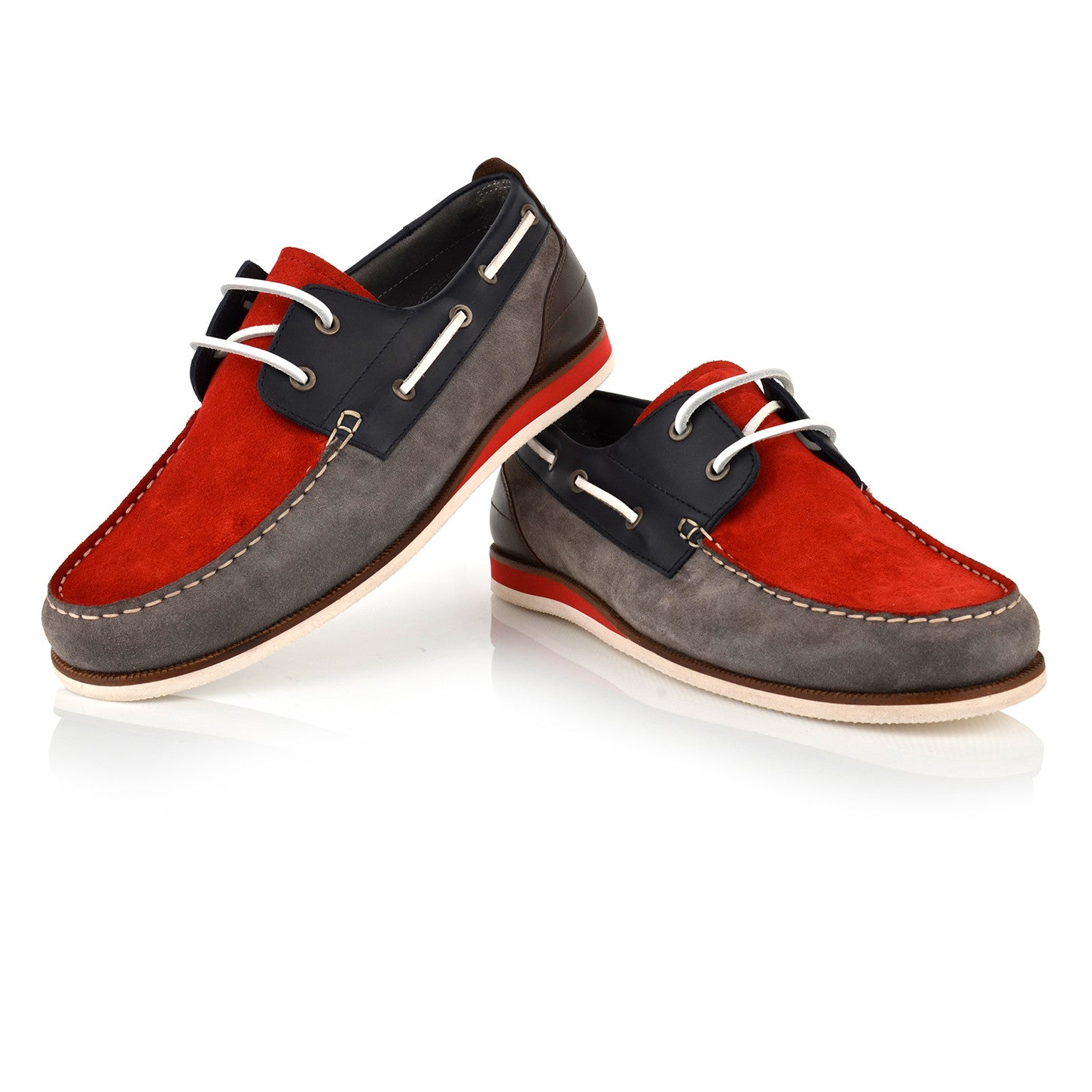 LM470 - Language Sail Men's Casual Red Boat Shoes