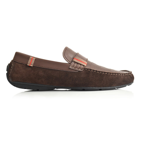 LM504 - Language Liked Men's Dk Brown  Casuals Moccasin