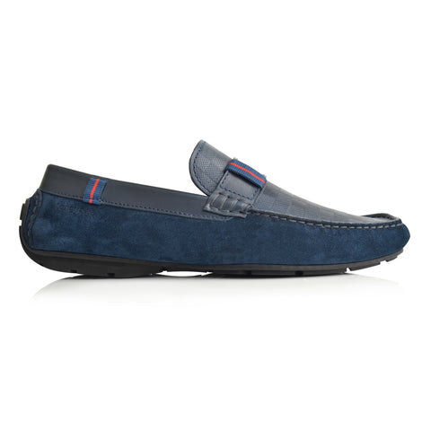LM504 - Language Liked Men's Navy  Casuals Moccasin