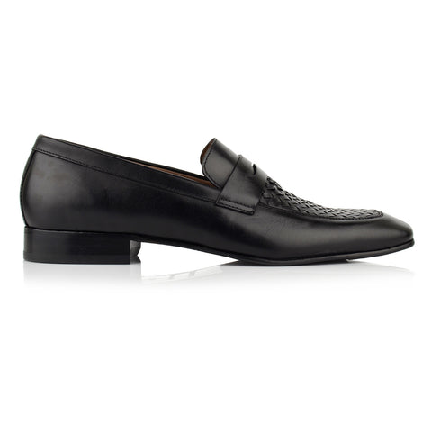 LM510 - Language Grata Men's Dress Black Loafers