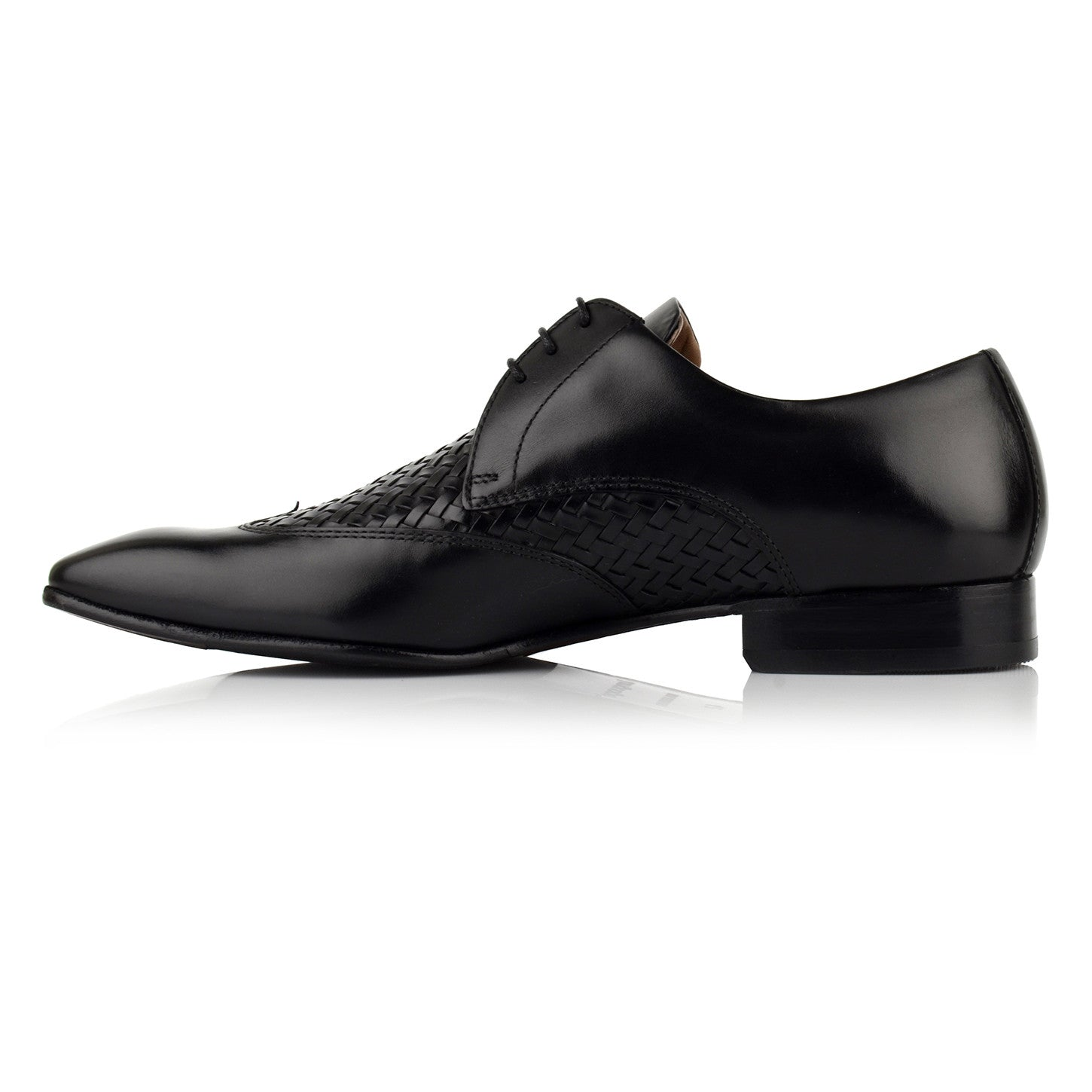LM511 - Language Entwin Men's Dress Black Derby Shoes