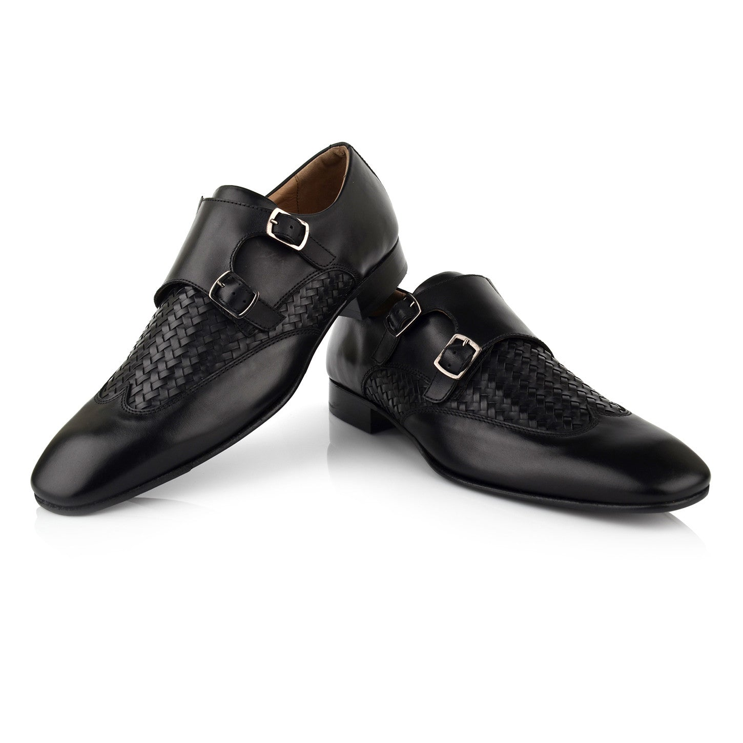 LM512 - Language Texo Men's Dress Black Monk Shoes