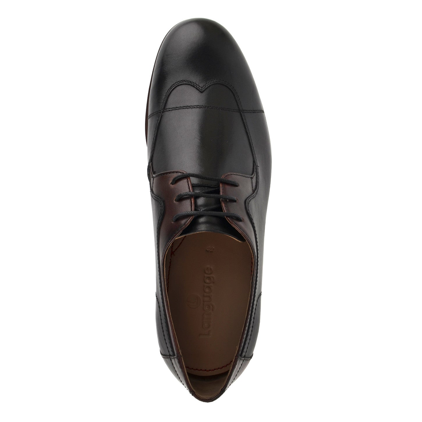 LM521 - Language Hinder Men's Dress Black Derby Shoes