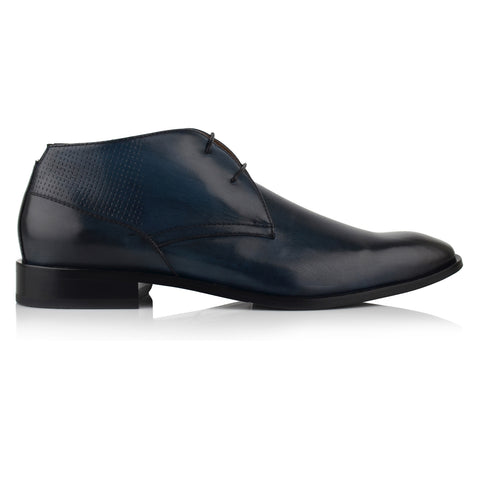 LM542 - Language Bouw Men's Dress Navy Derby Boots