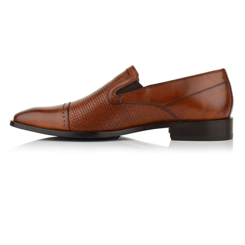 LM543 - Language Timbro Men's Dress Tan Loafers