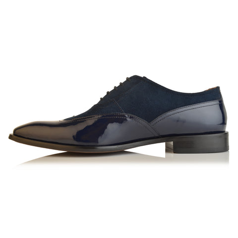 LM548 - Language Paety Men's Navy Dress Oxford