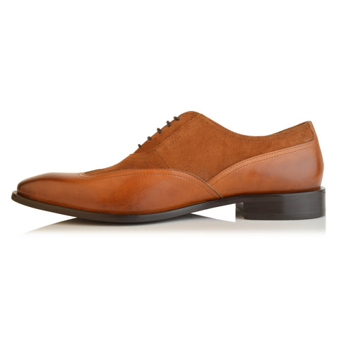 LM548 - Language Paety Men's Tan Dress Oxford