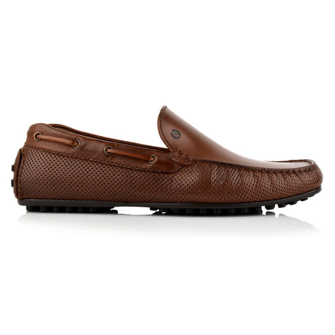 LM593 - Language Dash Men's Casuals Brown Drivers