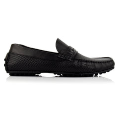 LM594 - Language Knack Men's Casuals Black Drivers