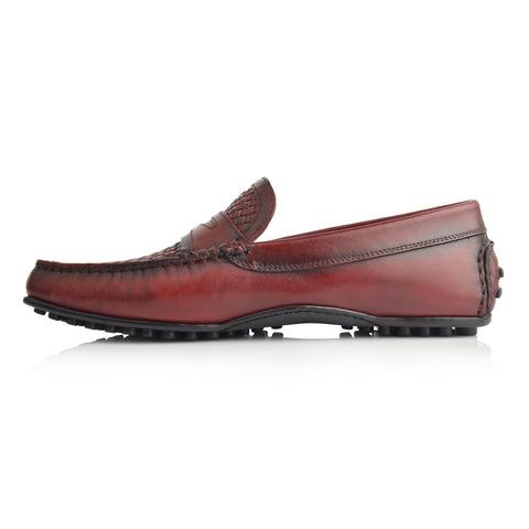 LM596 - Language Ghul Men's Wine Casuals Moccasin