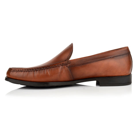 LM600 - Language Plush Men's Formal Brown Moccasins