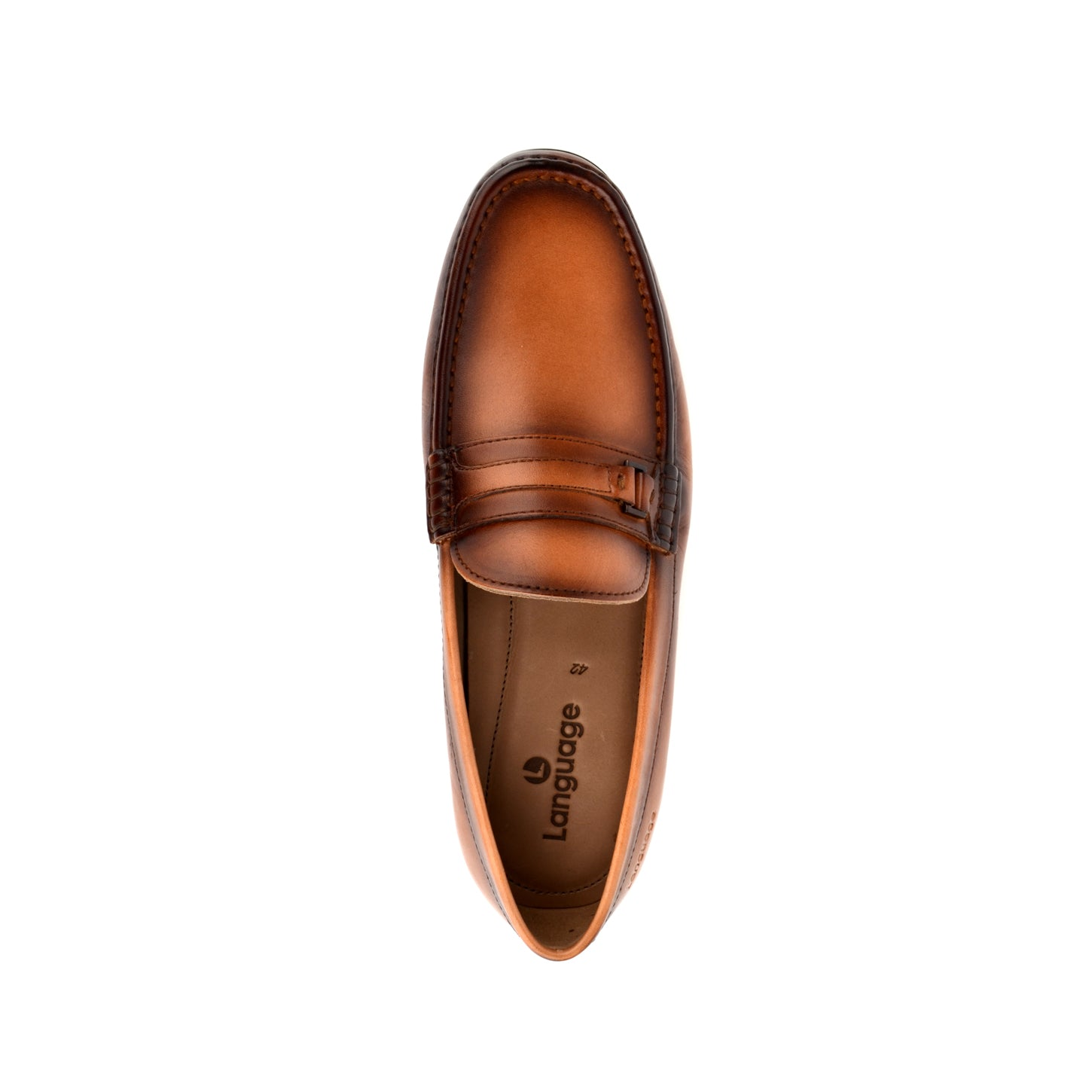 LM602 - Language Welsh Men's Formal Tan Moccasins