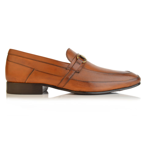 LM663 - Language George Men's Tan Formal Loafers