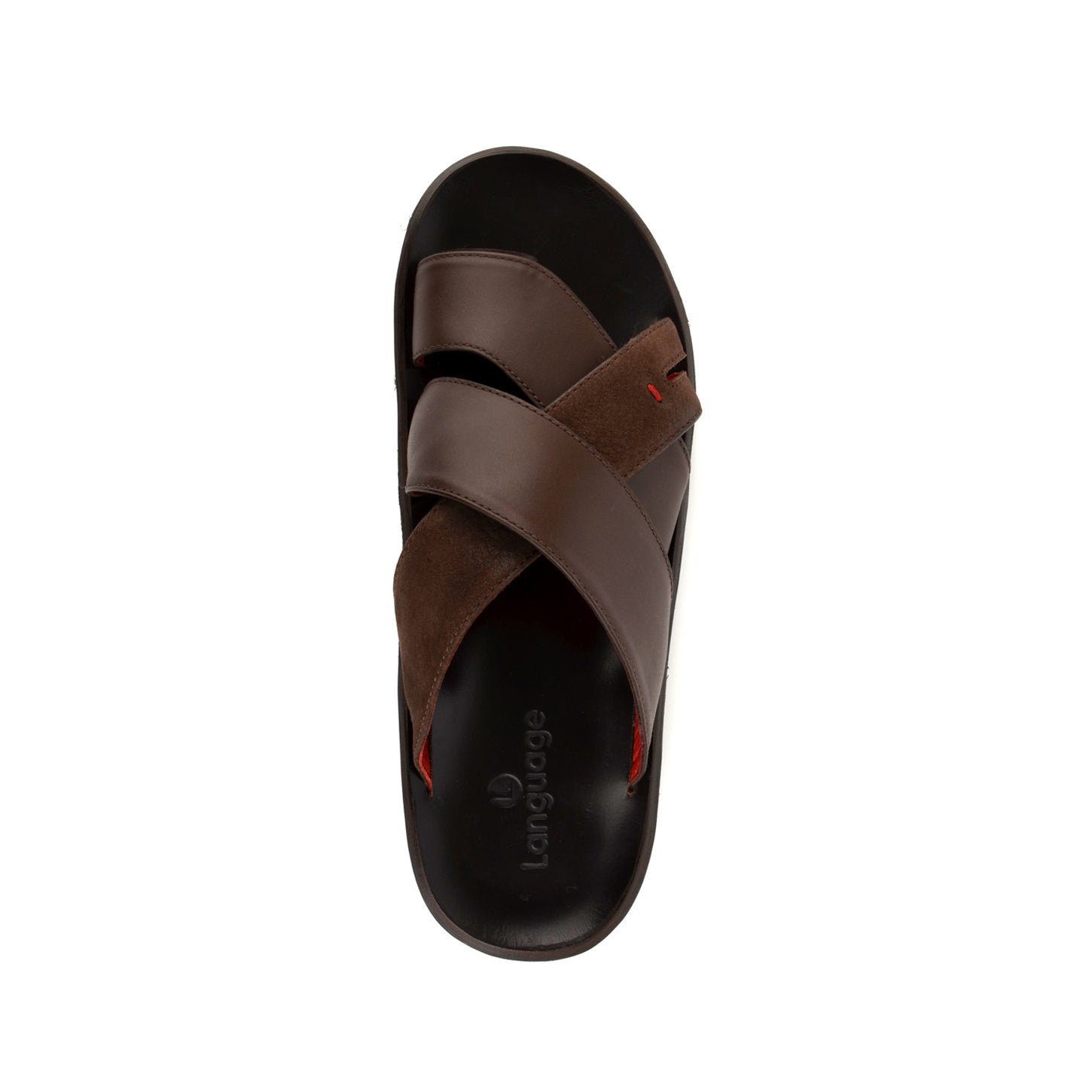 LM690 - Language Maven Men's  Dark Brown Slippers