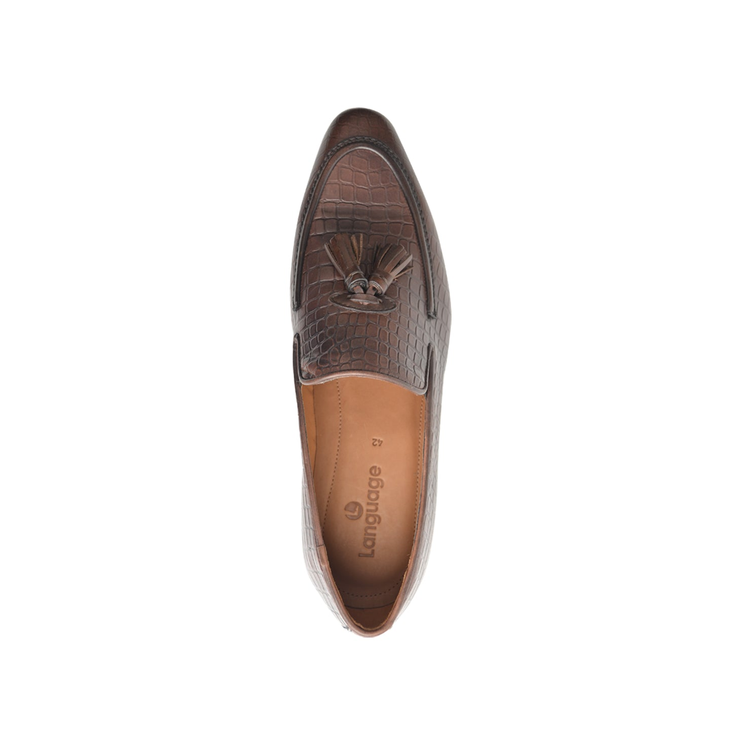 LM840 - Language Palmer Men's Brown  Dress Loafers