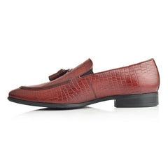 LM840 - Language Palmer Men's Burgundy Dress Loafers