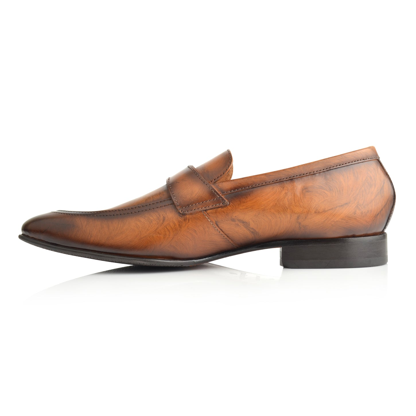 LM851 - Language Kevin Men's Tan Dress Loafers