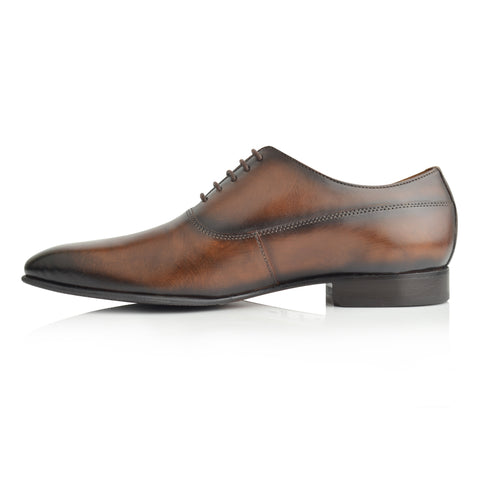 LM853 - Language Scott Men's Brown  Dress Oxford