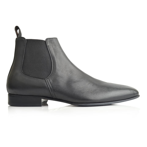 LM854 - Language Calvin Nick Men's Black  Dress Boots