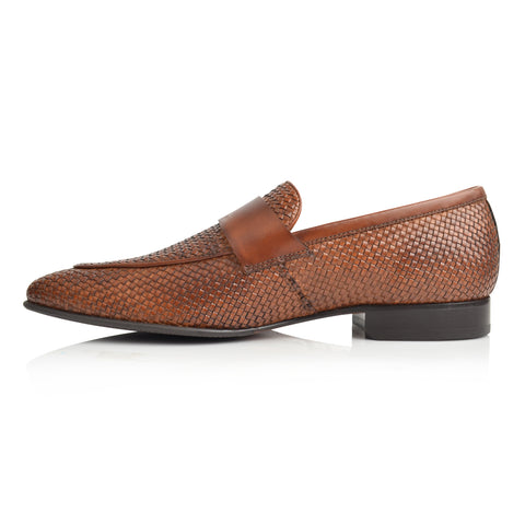 LM855 - Language Muneh Men's Tan  Dress Loafers