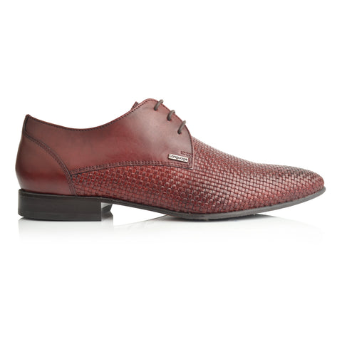 LM856 - Language Vincent  Men's Burgundy Dress Derby