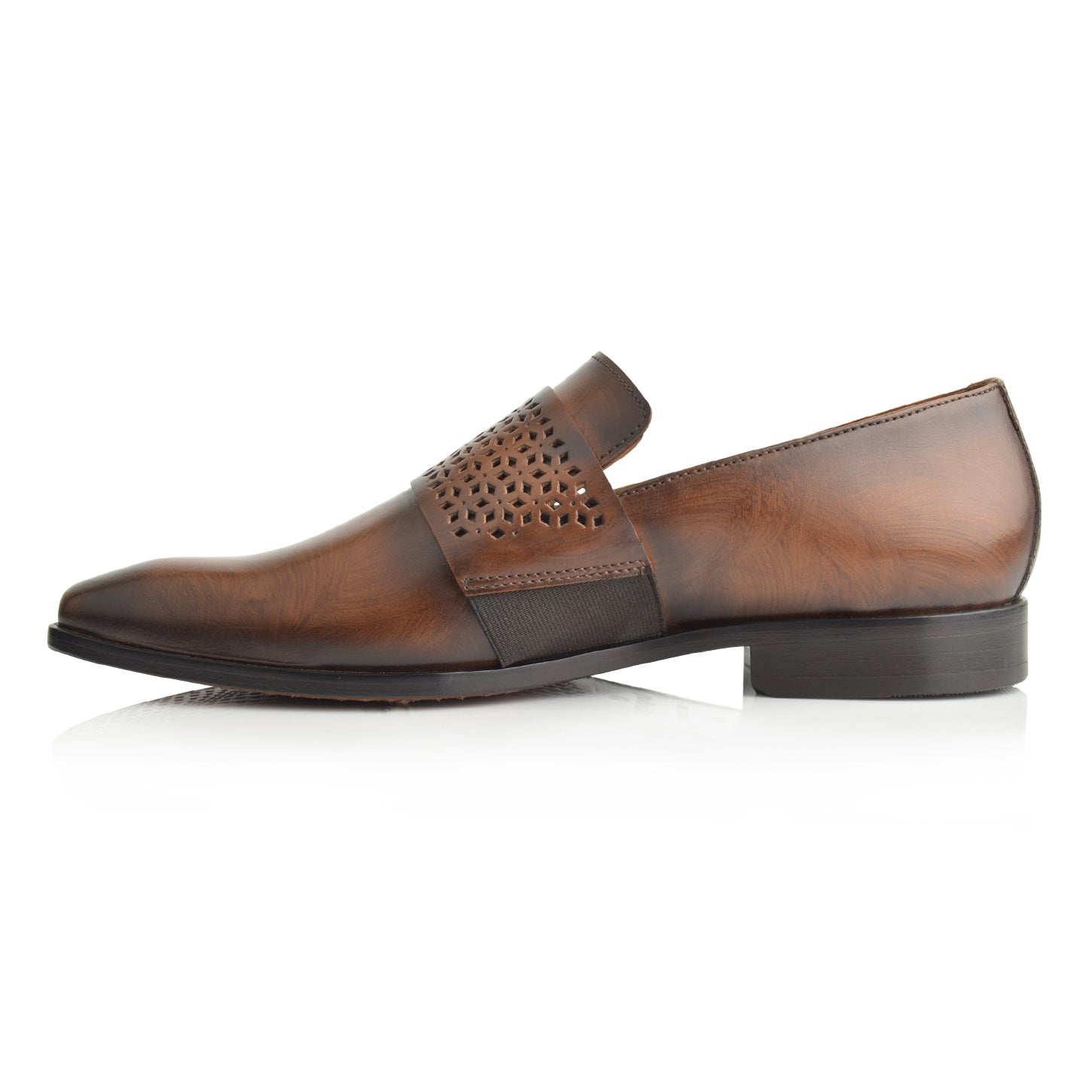 LM865 - Language Hiton Men's Brown  Dress Loafers