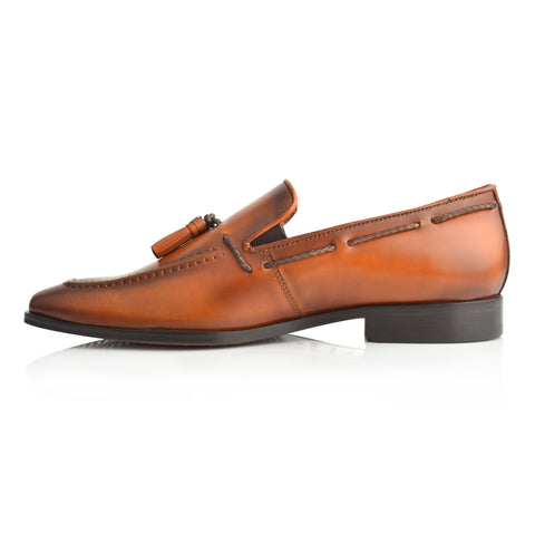 LM867 - Language Dark Men's Tan  Dress Derby