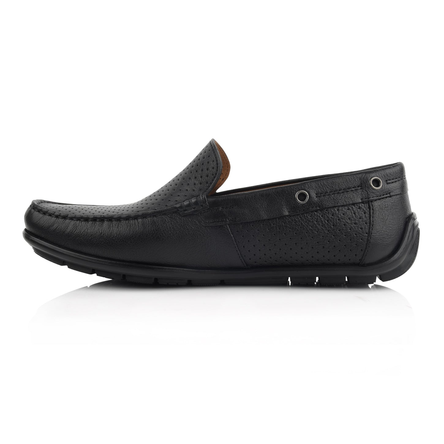 LM880 - Language Raya Men's Black  Dress Moccasin