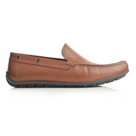 LM880 - Language Raya Men's Tan  Dress Moccasin