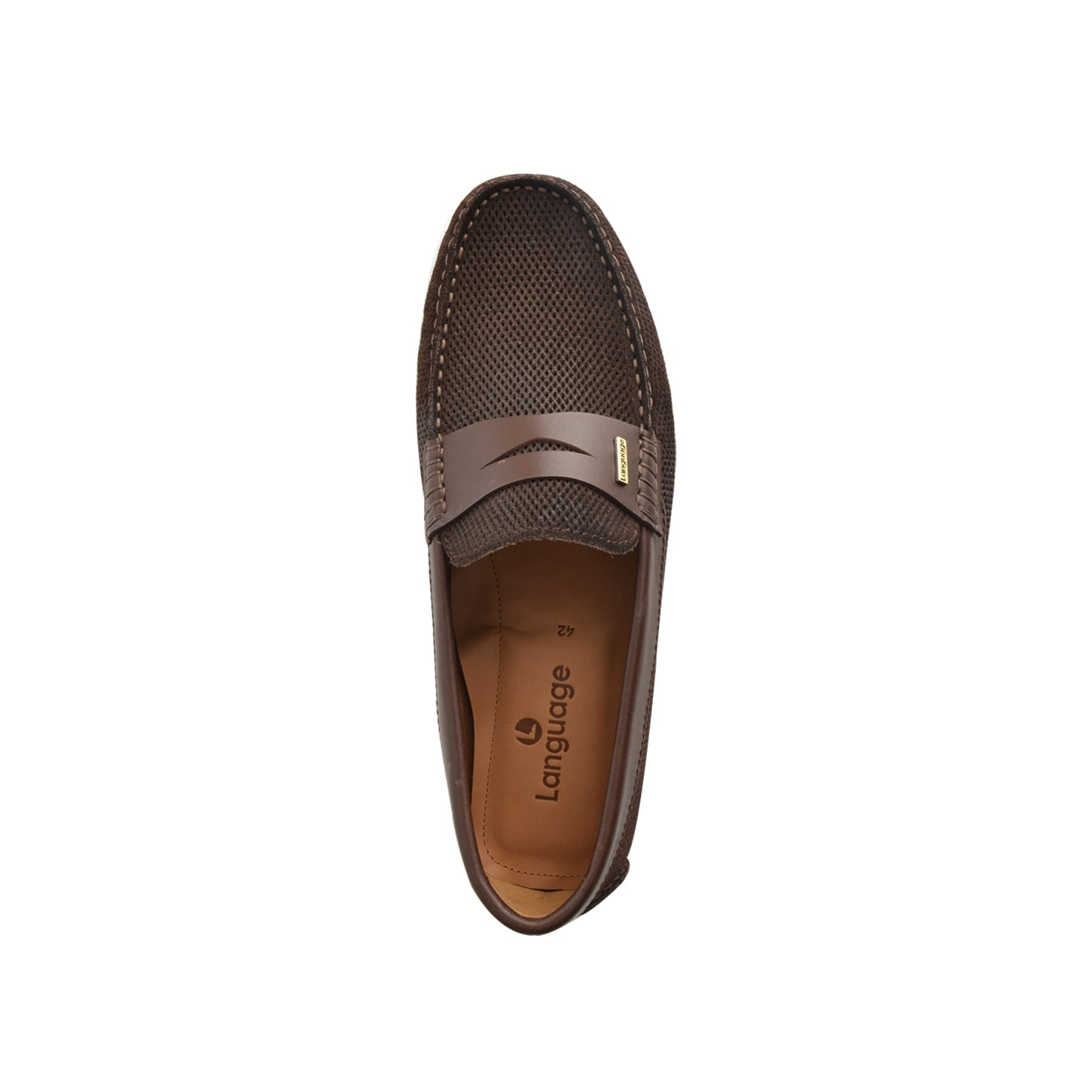 LM920 - Language Gaya Men's Dk Brown  Casuals Moccasin