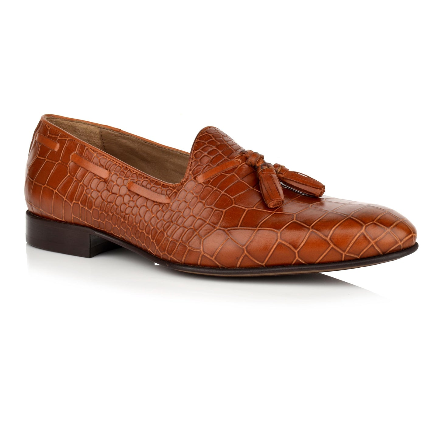 LM434 - Language Men's Tig Tan Dress Loafers