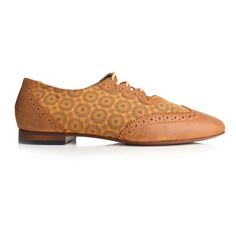 LW027 - Language Florence Women's Casual Tan Oxford Shoes