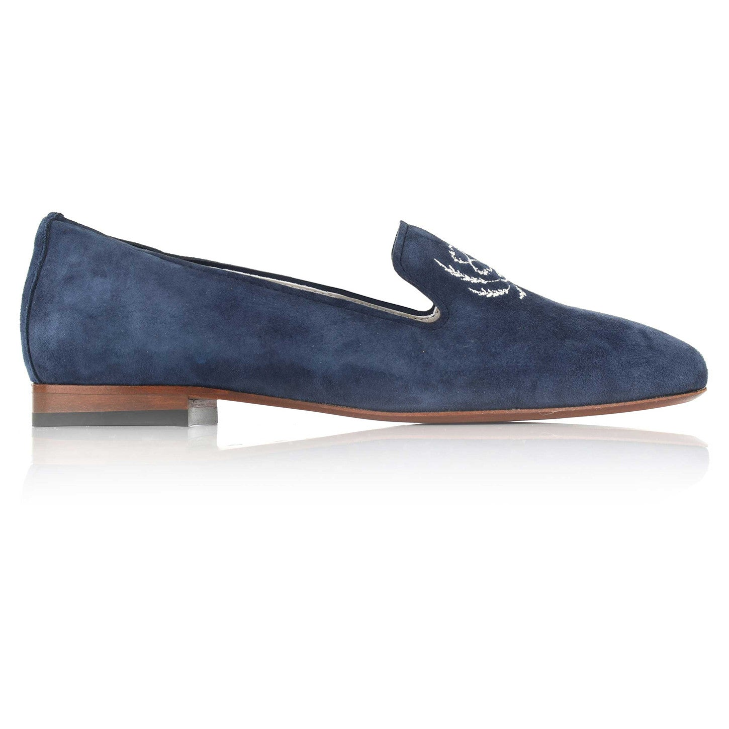 LW028 - Language Palemo Women's Casual Blue Loafers
