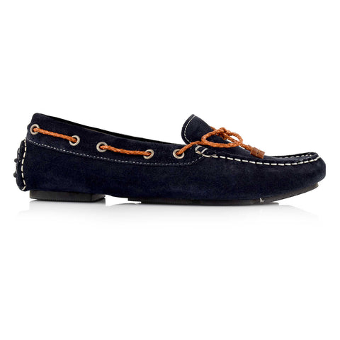LW031 - Language Rome Women's Casual Navy Drivers