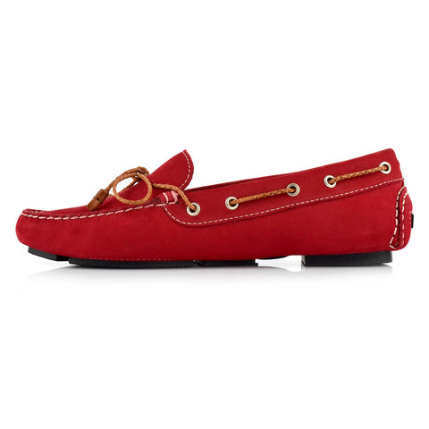 LW031 - Language Rome Women's Casual Red Drivers