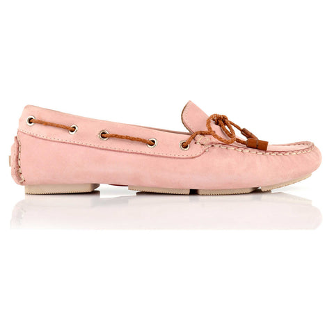 LW031 - Language Rome Women's Casual Pink Drivers