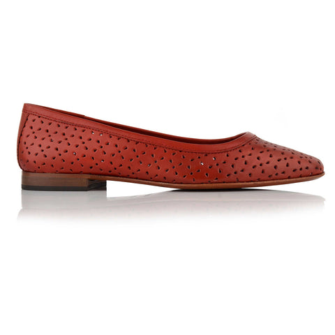 LW050 - Language Padua Women's Casual Red Ballerinas
