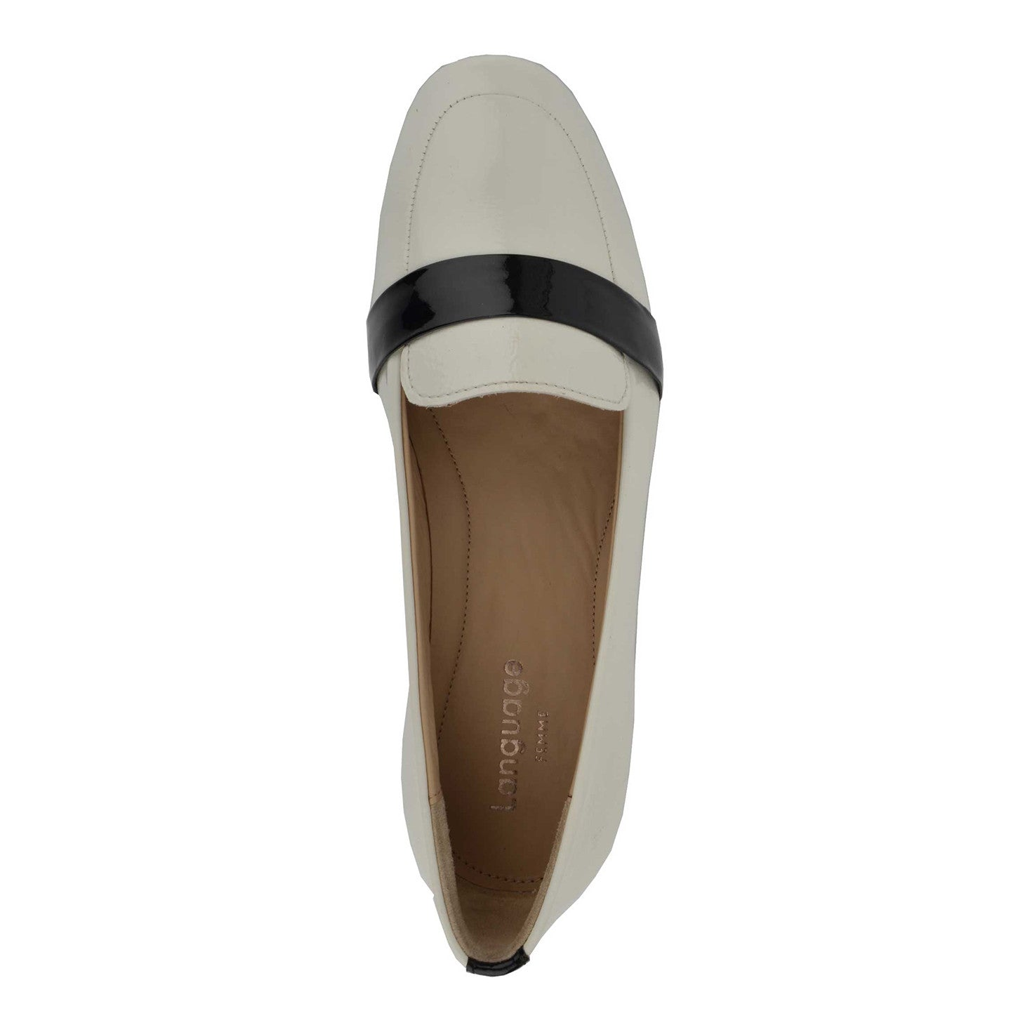 LW053 - Language Verona Women's Casual White Loafers
