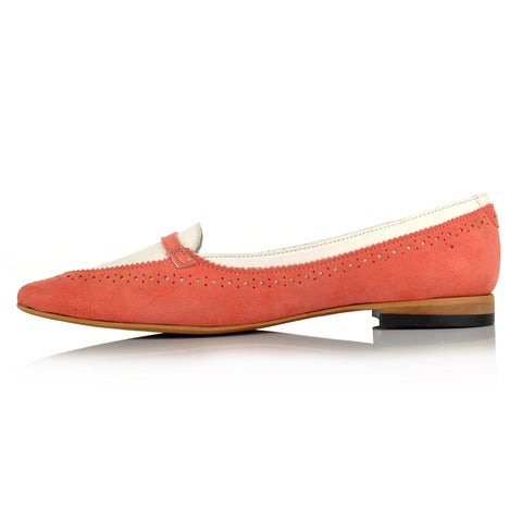 LW090 - Language London Women's Casual Peach Loafers