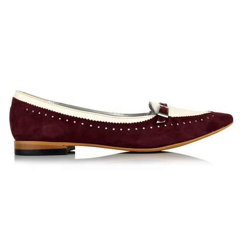 LW090 - Language London Women's Casual Wine Loafers