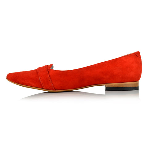 LW091 - Language Liverpool Women's Casual Red Loafers