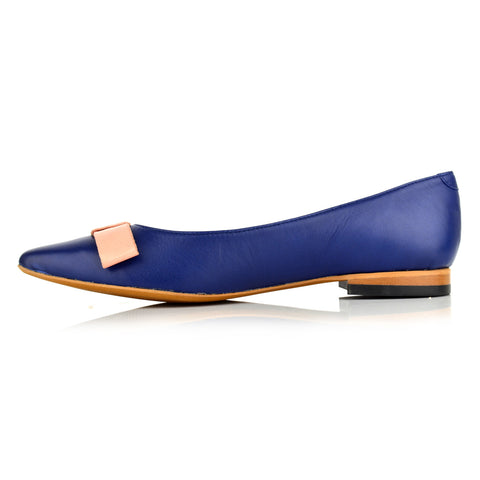LW092 - Language Bristol Women's Casual Blue Ballerinas