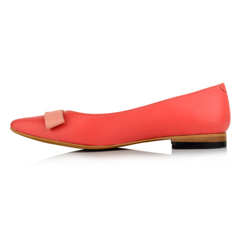 LW092 - Language Bristol Women's Casual Peach Ballerinas