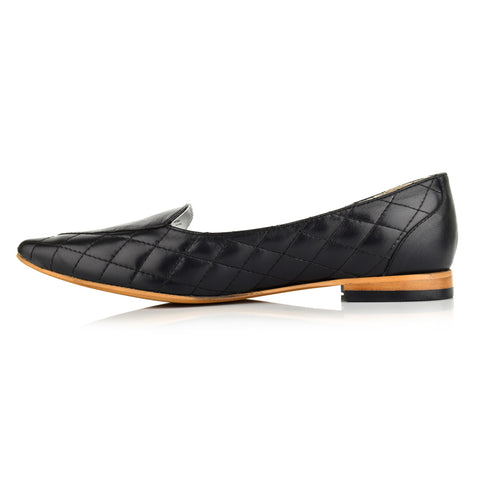 LW097 - Language Exeter Women's Casual Black Loafers
