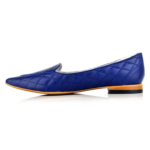 LW097 - Language Exeter Women's Casual Blue Loafers